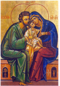 The Holy Family: Jesus, Mary, and Joseph. Chaste individuals all, holy, and One of them created the world. Care to guess which one?